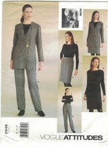 Vogue Attitudes 2046 Adri Jacket, Dress, Top Skirt Pants Pattern Size 14... - $14.69