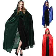 Halloween Party Masquerade Witch Wizard Cloak Cape Cosplay Costume - $24.70