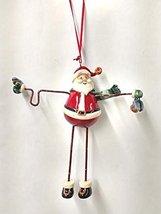 Snowman/Santa with Long Legs 6 inch Ornament (Santa) - $20.00