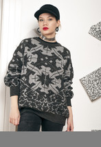 Geometry knit jumper - 80s vintage grandpa sweater - $50.00