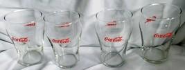 4 Vintage 1990's Clear Mini Coke Glasses - $42.75