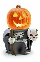 Indoor/Outdoor Halloween Decorations Grim Reaper Pumpkin Statue For Back... - $66.37