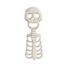GALLERIE II 6.8'' CAST IRON SKELETON BOTTLE OPENER HALLOWEEN PARTY DECOR... - $8.88