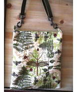 Shoulder Bag Purse Garden Insects Botanical Leather Strap Handcrafted - $35.00