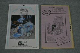 Child's Carseat Cover Travel Pockets Unmailbox Nursery Two Patterns Uncut - $20.00