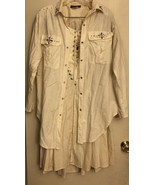 2-Piece Beige Dina Bar-El Hi Tech Jacket Pleated Skirt Size M - $78.21