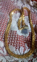 Vintage Napier New Old Stock 5 Strand Braided Herringbone Gold Tone Necklace - $14.25