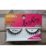 Andrea False Faux Eyelashes 91 Maximum Curl Multi Layered Lashes Black  - $8.99