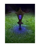 Solar Light Bug Zapper Garden Stake Sun Powered Lantern Yard Decoration ... - $39.10