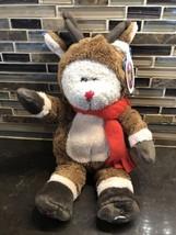 Starbucks Rudolph the Red Nose Reindeer Bearista Plush Bear 2003 Christm... - $19.79