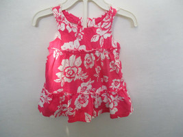 Chaps Size 3 Months Girls 100% Cotton Pink Floral Dress and Diaper Cover - $20.00