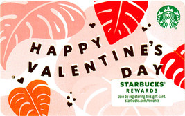 Starbucks 2021 Happy Valentine's Day Recyclable Gift Card New No Value - $1.99