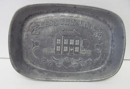 Pewter Wilton Vintage BLESS THIS HOUSE Bread Se... - $32.95