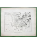 1848 Fine Quality Map - SPAIN Tarragona & Environs + Siege of 1811 Briti... - $12.15