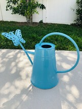 Gardener's Shabby Chic Blue Watering Can w/Butterfly  - $59.40