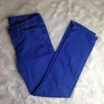 J.Crew Womens Preppy Purple Blue Matchstick Skinny Jeans Sz 28 Regular  - $31.09