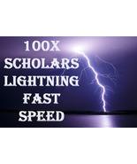 100X 7 SCHOLARS WORK SPEED MAGICK LIGHTNING FAST FULGUR IEIUNIUM RING PE... - $99.77