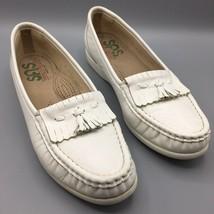 SAS White SZ 8 Slim Shoes Loafers Tassel Flats Tripad Comfort Made in USA Spring - $17.30