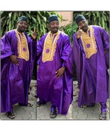 Odeneho Wear Men's 3 Pieces Set Shadda Agbada. African Clothing. - $237.60+