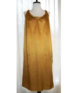 PORTS 1961 silk cotton bronze gold Grecian shift dress 12 - $69.00