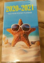 """2020-2021 2-Year Pocket Planner """"Starfish With Sunglasses"""" For School, ... - $2.00"""
