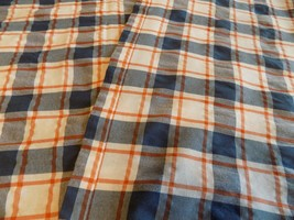 "Vintage Tablecloth / Blue White Check/Plaid  60 x 100"" (2-3-18-21) - $17.82"