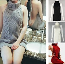 Cosplay Sexy Girl Virgin Killer Turtleneck Sleeveless Pullover Backless ... - $9.99
