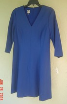 NWT ANNE KLEIN BLUE FLARE CAREER DRESS SIZE 10 $99 image 2