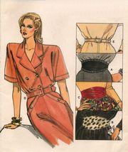 Vintage 1987 Misses Belts Five Styles Vogue 9982 Sew Pattern P-L 6-18  - $11.99