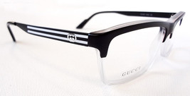 GUCCI Men's Frame Glasses GG3517 Crystal Black 53-14-140 MADE IN ITALY -... - $199.95