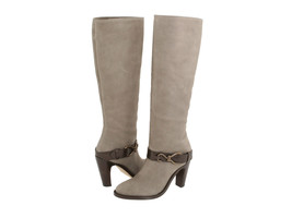 Cole Haan Air Tantivy Gray Leather Tall 90 Knee High pull on High Heel B... - $200.99