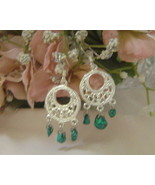 Handcrafted Turquoise Earrings New - $12.99