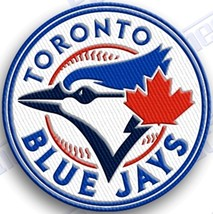 TORONTO BLUE JAYS   iron on embroidered embroidery patch baseball  logo mlb - $10.95