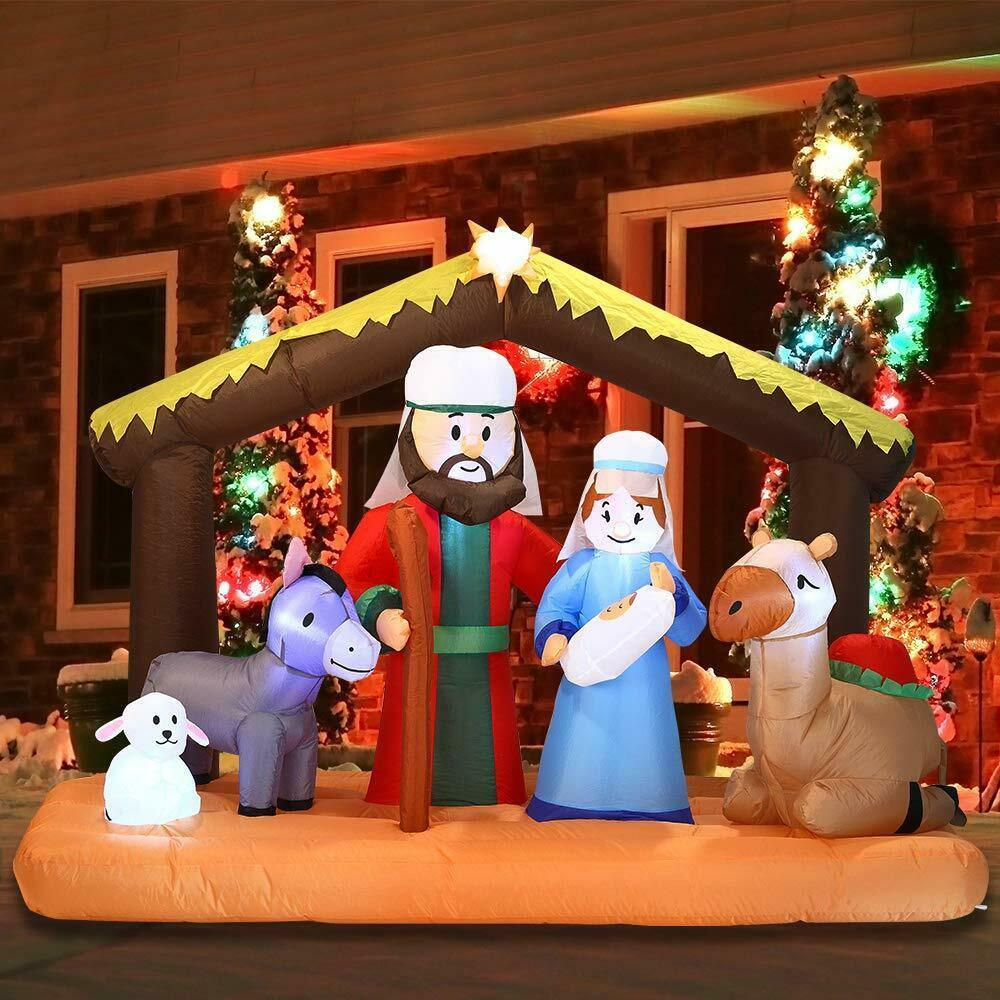 Primary image for NEW Inflatable Nativity Holy Family Scene 6.5 ft W Christmas Yard Decor Outdoor
