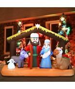 NEW Inflatable Nativity Holy Family Scene 6.5 ft W Christmas Yard Decor ... - $119.99
