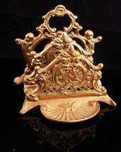 Victorian Letter holder / card holder/ brass cherubs / Desk organizer / ... - $95.00