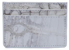Wonderful Gull Grey Many Card Slots Sterling Crocodile Leather Men Card Wallet - $179.99
