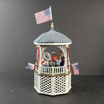 Department 56 Heritage Village Collection Stars Stripes Gazebo Music Box Video - $24.99