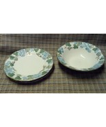 Vernon Ware Scultured Grape  Rimmed Cereal Bowl and 2 Salad Plates by Me... - $14.97