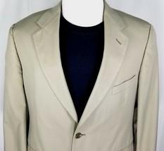 Brooks Brothers Sport Coat Mens Size 42 Regular Tan or Beige Cotton Blend - $50.44