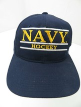 Navy Hockey Vintage Snapback Adult Cap Hat - $14.84