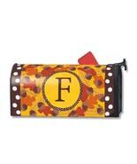 Fall Follies Monogram F Magnetic Mailbox Cover Autumn Leaves Acorns Lett... - $19.79