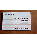 2001 Toyota avalon Owners Manual New Original - $23.75