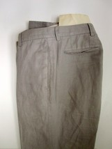 Banana Republic Pants 31R 31 X 29 Linen Gray Mens Trousers Flat Front - $18.40