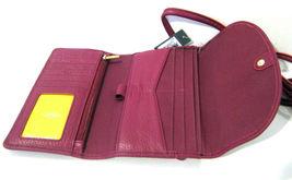 Fossil Brand Sophia Tassled Crossbody Wallet Raspberry Wine SLG1036672 NEW  image 4