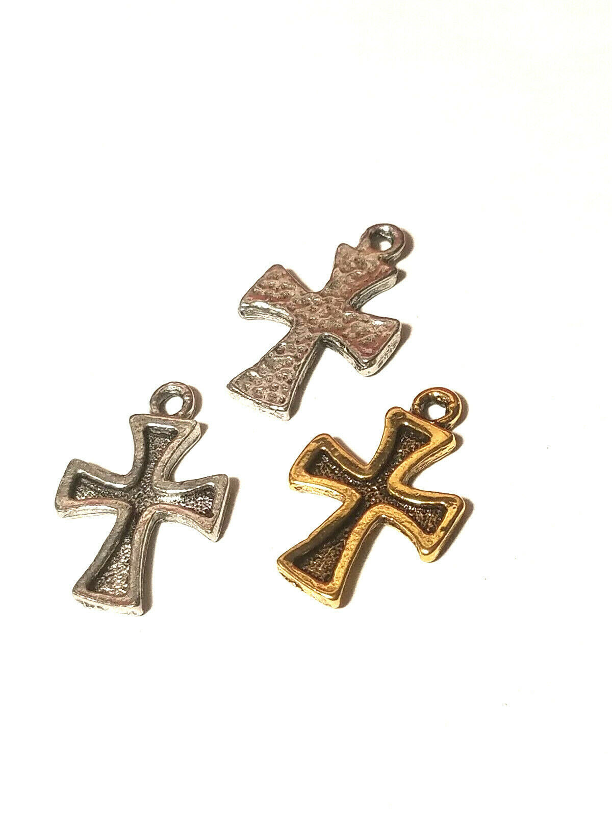 Cross Pewter Pendant Charm - 18mm L x 30mm W x 2mm D