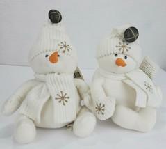 First Main Snowmen Holiday Plush Pair Marshmallow and Tapioca Snowflake ... - $24.46