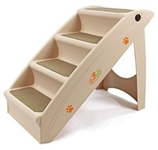 Dog Cat Pet Foldable Access Steps in Plastic Mobility Small Animals Olde... - $36.63