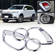 ABS Front Rear Fog Light Lamp Cover Trim Fit for MITSUBISHI Outlander 20... - $53.00