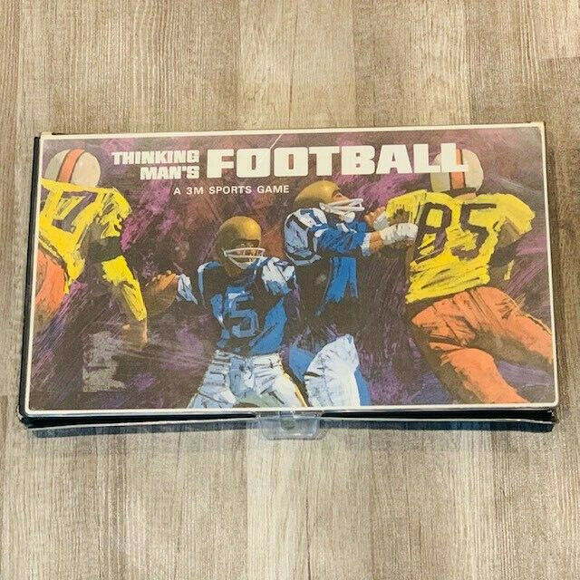 Primary image for A Thinking Mans football board game 1969 complete 3M sports vintage mcm